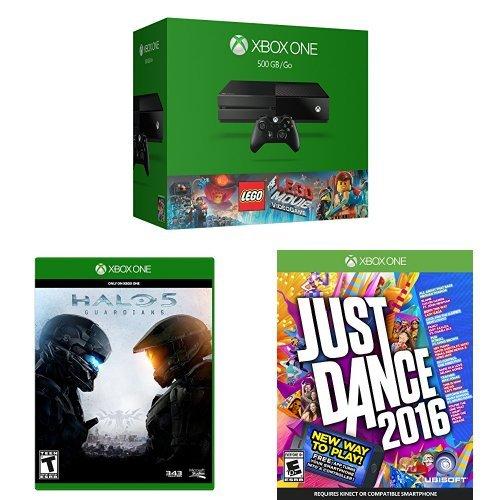 Amazon.com: Xbox One 500GB Console - The LEGO Movie Bundle + Halo 5 ...