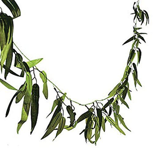 45 FT Bamboo Leaf Garland Luau Wedding Jungle Tropical Safari Theme Vine Decor
