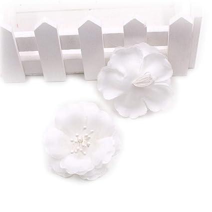 d3758c19045 Artificial Flowers Fake Flower Heads in Bulk Wholesale for Crafts Silk  Stamens Silk Plum Blossom Wedding
