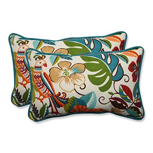 Pillow Perfect Outdoor/Indoor Lensing Jungle Rectangular Throw Pillow (Set of 2) ()