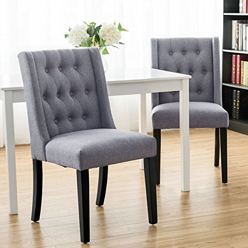 Giantex Set of 2 Dining Chairs Modern Side Chairs Living Room ...