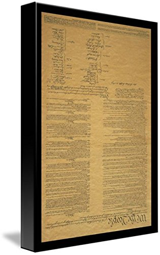 Wall Art Print entitled The Original United States Constitution by Panoramic Images