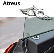 Atreus 1pcs Car-Styling Door Pin Lock Wing Emblem Badge Auto Stickers Decorative For BMW Mini Cooper R56 R50 R53 F56 F55 R60 R57