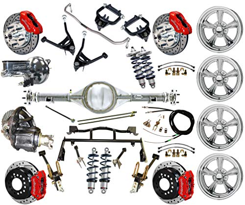 R & 4-LINK SYSTEM, WITH CURIE REAR END,BILLET SPECIALTIES WHEELS,CONTROL ARMS,FRONT SWAY BAR & WILWOOD DISC BRAKE KIT,11