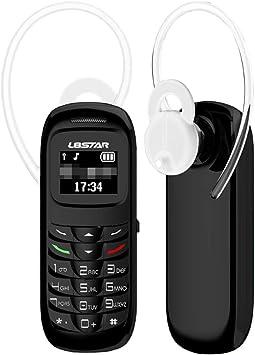 UKCOCO Mini teléfono móvil con Auricular inalámbrico Bluetooth Auricular Mini teléfono móvil de Repuesto (Negro): Amazon.es: Electrónica