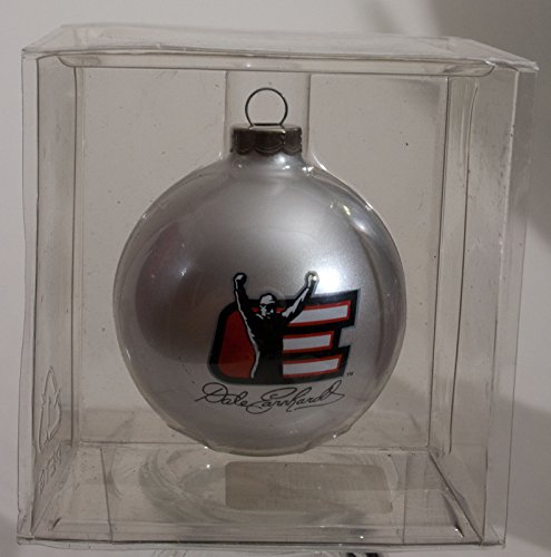Dale Earnhardt Christmas Ornament - Dale Earnhardt Sr Legend E Daytona Win Pose Silver Ball Christmas Ornament