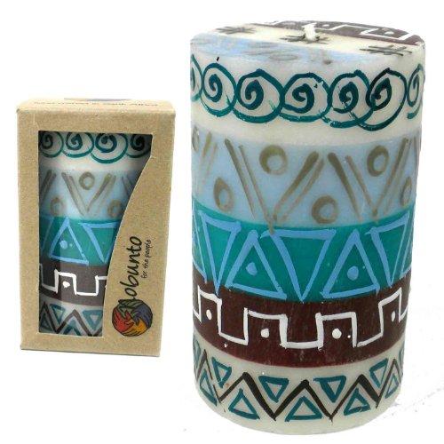 - Global Crafts Single Boxed Hand-Painted Pillar Candle - Maji Design - Nobunto Candles