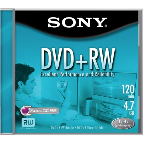 Sony DVD+RW 4X Rewritable (Single) (Discontinued by Manufacturer) by Sony