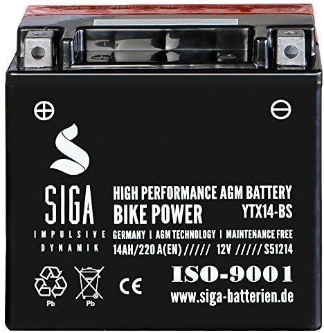 Motorrad Batterie Ytx14 Bs Agm Gel 14ah 12v 220a En Etx 14 Bs Ctx14 Bs Ytx14 4 Ytx14bs Auto