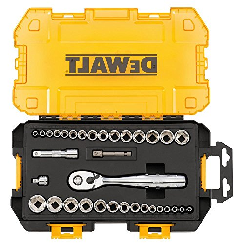 DEWALT DWMT73804 Drive Socket Set (34 Piece), 1/4