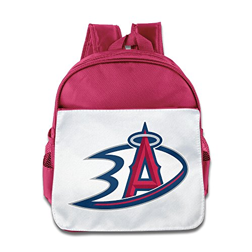 LINNA Superb Anaheim Sports Logo Mixed Teenager School Bag Backpack For Boys And Girls Pink