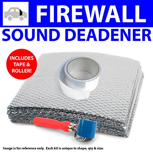 73 Firewall (Zirgo ZIR79950 Heat & Sound Deadener Jeep Jeepster 66 - 73 Firewall Kit + Tape, Roller 9783Cm2)