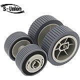 S-Union New Scanner Brake and Pick Roller Pickup Roller Set for Fujitsu 6125 6225 6130Z 6230 6140 6240 6120 Fi-6125 Fi-6225 Fi-6130Z Fi-6230 Fi-6140 Fi-6240 Fi-6120 Part NO: PA03540-0001 PA03540-0002