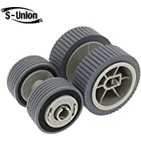 S-Union New Scanner Brake and Pick Roller Pickup Roller Set for Fujitsu 6125 6225 6130Z 6230 6140 6240 6120 Fi-6125 Fi-6225 Fi-6130Z Fi-6230 Fi-6140 Fi-6240 Fi-6120 Part NO: PA03540-0001 PA03540-0002