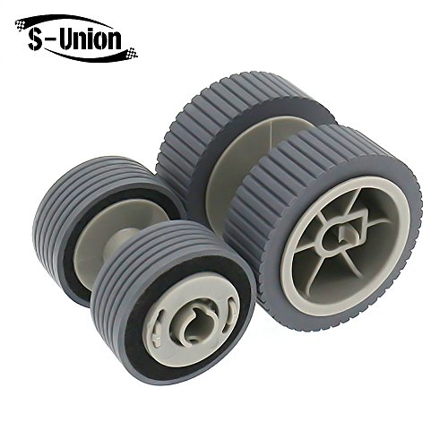 S-Union New Scanner Brake and Pick Roller Pickup Roller Set for Fujitsu 6125 6225 6130Z 6230 6140 6240 6120 Fi-6125 Fi-6225 Fi-6130Z Fi-6230 Fi-6140 Fi-6240 Fi-6120 Part NO: PA03540-0001 PA03540-0002 ()