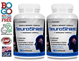 #1 Rated NeuroShield Brain & Memory Supplement | Multi-Ingredient Formula | Protects Brain, Prevents Age Related Decline and Improves Cognition & Focus | Two 90 Counts | 180 Day Supply | Free Shipping Review