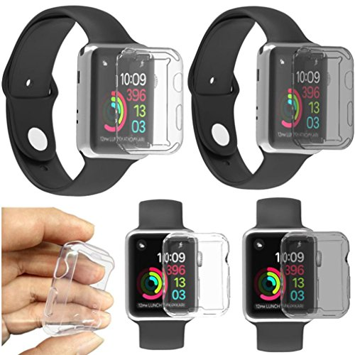 Gotd Ultra-Slim Electroplate TPU Soft Case Cover For Apple Watch Series 3 42mm (Clear) by Goodtrade8 (Image #5)