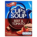 Batchelors Cup a Soup Beef & Tomato (4 per pack - 88g) - Pack of 2