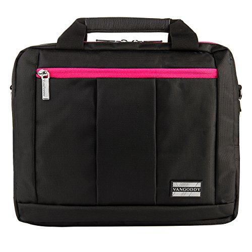 Executive Travel Carrying Bag, Messenger Bag & Backpack For Samsung Galaxy Tab PRO / Galaxy Note PRO 12.2'' Tablet + Pink Bluetooth Suction Speaker by Vangoddy (Image #7)