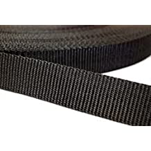 """1"""" Black Polypro 20 Yard Webbing Kit with 7 Heavy Duty Military Grade Acetal Plastic Side Release Buckles and 7 Triglides HORIZONTAL PRODUCTS"""