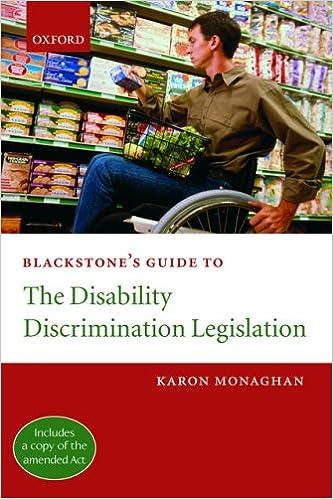 Blackstone's Guide to the Disability Discrimination Legislation