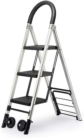 Suministros de construcción Las escaleras rodantes, Familia 3-4 peldaños de la escalera de tijera multifunción Baranda de aleación de aluminio de peso ligero Escalera Escalera Roller ahorra espacio: Amazon.es: Bricolaje y herramientas
