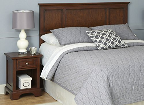 2 Drawer Cherry Bedroom Set - Home Styles Furniture 5529-6016 Chesapeake Headboard and Two Night Stands, King/California King