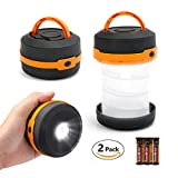 EverBrite LED Camping Lantern & Flashlights 2-pack Portable Collapsible Night Lights 3 Modes for Tent, Fishing, Hiking and Outdoor Adventures Battery Included