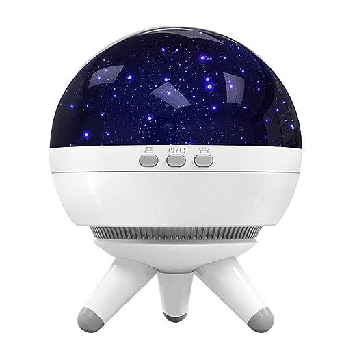 YJDQXKD Iluminación Proyector Estrellas,7 Colores Ligero Girar Usb ...