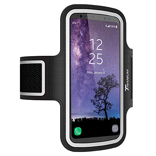 Trianium Armband, Water Resistant Large Cell Phone Armband for iPhone Xs/XS Max/XR/X/8 Plus, Galaxy S10/S10e/S10+/S9/S9/Note 9, Google Pixel 2 XL and More for Workout Band Skin & Key Holder(2nd Gen) ()