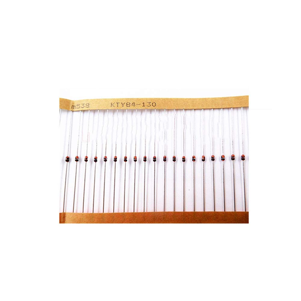 Taidacent 10 Pcs KTY84-130 Silicon PTC Temperature Thermistor Sensor Linear PTC Thermistor Used in Motor Servo KTY84 Silicon Temperature Sensors