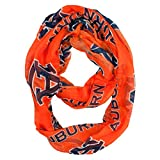NCAA Auburn Tigers Sheer Infinity Scarf, One Size, Orange