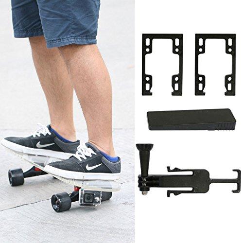 Adjustable Mount for GoPro, 2015 JNTworld Skateboard Camera Bottom Mount X Games, black