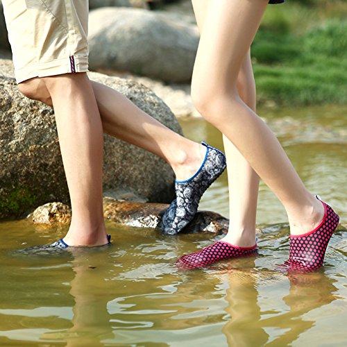 Volwassen Kinderen Sneldrogend Huid Watersport Aqua Schoenen Sokken Gaten Ventilatie Kpu Buitenzool 2grijs