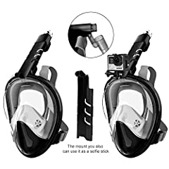 Description Snorkel Mask Anti-Fog and Anti-Leak, 180°Panoramic Full Face Design with Wide Viewing Area for GoProComfort: Snorkel-Rock scuba masks come with an adjustable strap that will allow you to have a more personalized fit.Sizes range fr...