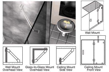 CRL Chrome Through-Glass Mounted Support Bar ()