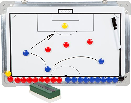 Trademark Innovations Sport Magnet Board with Marker Pieces - Perfect to Coach Soccer, Basketball, Hockey, and More