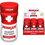 DrinkAde Prevention (6 Pack/3.4oz Bottles) - Previously Never Too Hungover with Electrolytes, B Vitamins, Milk Thistle, Green Tea Extract - Only 5 Calories.