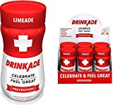 DrinkAde Prevention Hydration & Liver Detox | Electrolytes, Vitamin B, Milk Thistle, Green Tea Extract | Only 5 Calories | Vegan, Caffeine-Free, Non-GMO | Previously Never Too Hungover | 6 Pack
