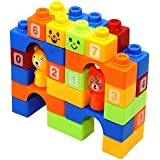 ABODH Learning Educational Building Blocks for Kids with Animal Figures (48 Pcs- Big Size)