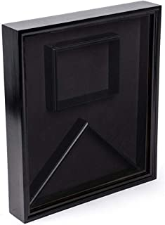 product image for Flag Display Case with Glass Front and Certificate Holder, Velvet Backing