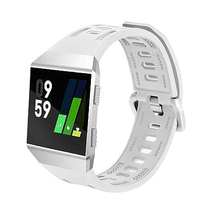 Teepao Bandas Compatible Fitbit Ionic, reemplazo de Correa de Silicona Transpirable Reloj Pulsera Accesorios Correa