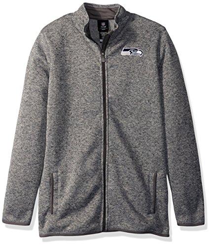 Outerstuff NFL Youth Boys Lima Full Zip Fleece Jacket-Cool Grey-XL(18), Seattle Seahawks