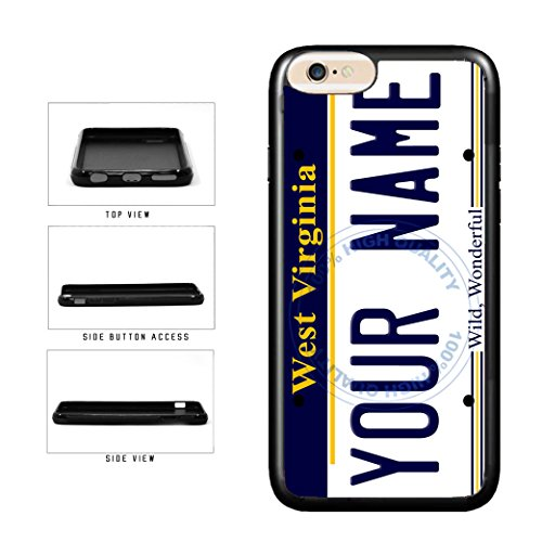 (BleuReign(TM) Personalized Custom Name West Virginia State License Plate TPU Rubber Silicone Phone Case Back Cover for Apple iPhone 8 Plus and iPhone 7 Plus)