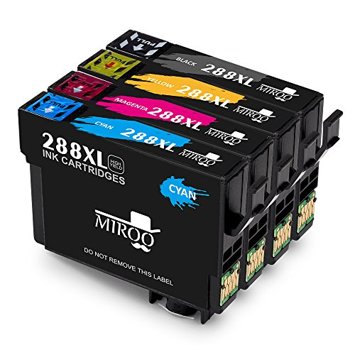 MIROO 1 Set Replacement Epson 288XL Ink Cartridges High Yield, Compatible with Epson XP-430 XP-330 XP-434 Printer (1x Black, 1x Cyan, 1x Magenta,1x Yellow)