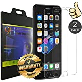iPhone 6 6S Plus Screen Protector [2 Pack] by VOKOLY, [9H Hardness] [Crystal Clear] [Buble Free] [3D Touch Compatible] Tempered Glass Screen Protector for Apple iPhone 6/6S Plus (iPhone 6/6SPlus)
