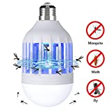 Bug Zapper Light Bulb, 2 in 1 Electronic Insect Killer, Mosquito Killer Lamp