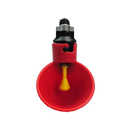 AUTOMATIC WATERER DRINKER CUPS WITH NUT O-RING /& WASHER CHICKEN COOP POULTRY 6