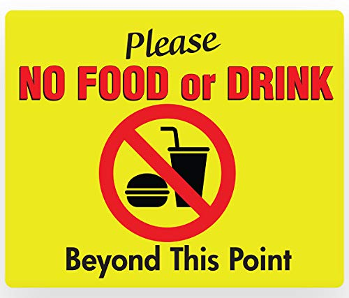 NO Food or Drink Beyond This Point Sign - PVC 11