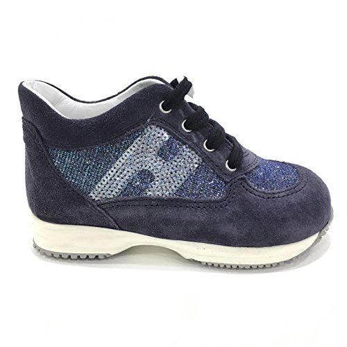 HOGAN Interactive Bambina HXT09204181FTP Blu Sneaker Primavera/Estate